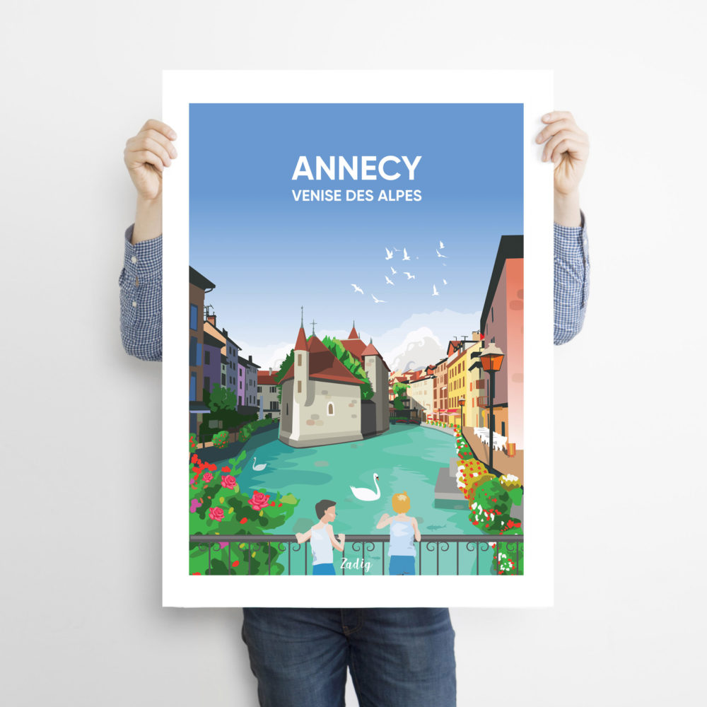 ANNECY Canaux Man