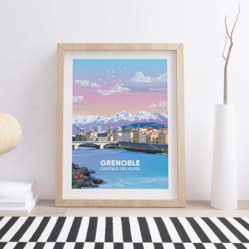 Affiche - Poster GRENOBLE ISERE Floor