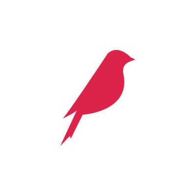 oiseau rouge insta