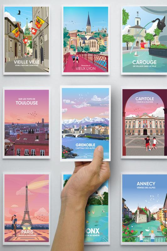 postcards france