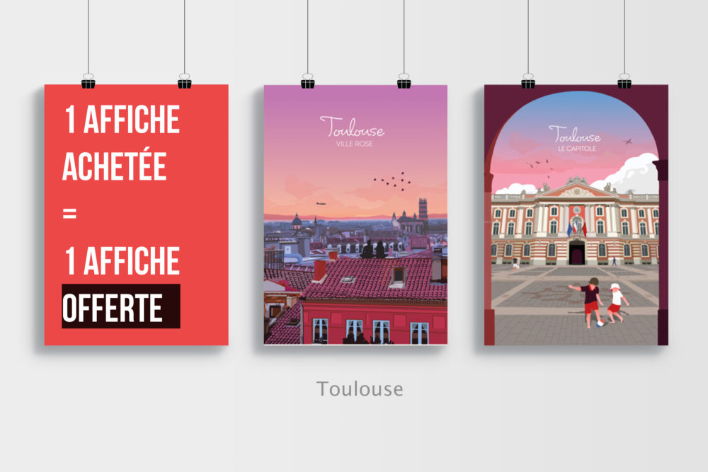 Free 3 Poster Mockup PSD Template